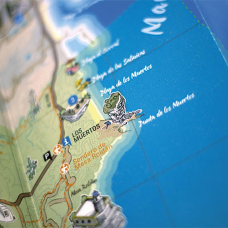 Mapa turístico Carboneras